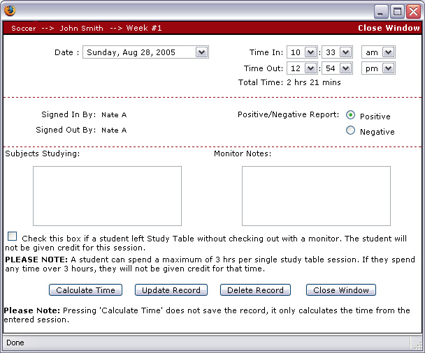 Artemis study hall tracking system student check in for Artemis study